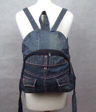 Denim Backpack Rucksack Bag Purse Boho Hippy Blue Festival Handmade Unique