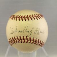 RARE Schoolboy Rowe Single Signed Baseball JSA LOA