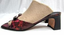 Brighton France women's size 8 M sandals shoes slides red snake skin leather