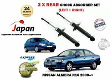 FOR NISSAN ALMERA N16 1.5 1.8 2.2 DI DCI 2000-> NEW 2 X REAR SHOCK ABSORBER SET