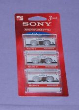 Lot of 3 Sony MC-60 MicroCassette Tape For Answer Machine Dictation Recorder NEW