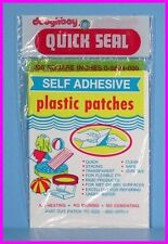 * 200 Sq In Waterproof Self-Adhesive Plastic Pool Boat Glass Repair Patches NEW