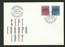 SWITZERLAND 1972  EUROPA CEPT First Day Cover  (nl)