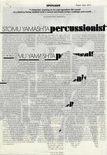 Stomu Yamashta Percussionist Press Kit 1973