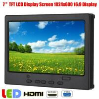 7inch 1024x600 Screen HDMI TFT LCD 16:9 Display Monitor Fit For Raspberry Pi 4B