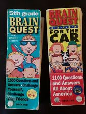 2 Brain Quest For The Car: One for 5th Grade/Ages 10-11 & One for Ages 7 -12