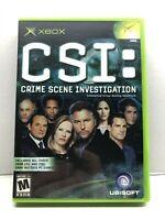 CSI: Crime Scene Investigation (Microsoft Xbox, 2004) Complete Tested Working
