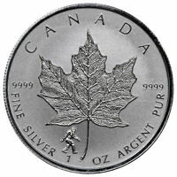 1BIGFOOT PRIVY - 2016 1 oz Canadian Silver Maple Leaf Reverse Coin - IN-STOCK!!