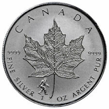 BIGFOOT PRIVY - 2016 1 oz Canadian Silver Maple Leaf Reverse Coin - IN STOCK!!