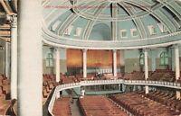 Postcard Interior First Presbyterian Church Seattle Washington