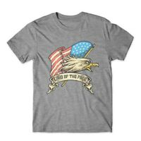 American Eagle T-Shirt. Land of the Free 100% Cotton Premium Graphic Tee New