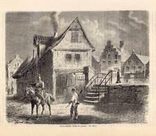 Husum-Holzstich Schleswig-Holstein meerumschlungen 1865
