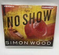 Audiobook NO SHOW Simon Wood Adult Fiction Plastic Case Brilliance NEW