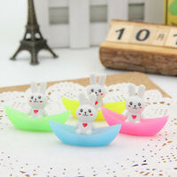 2X Rabbit Ship Luminous Rubber Eraser Stationery School Supplies Gifts For Kid ^