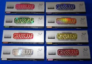GrassLeaf King S Transparent Coloured Rolling Papers.√Top Sellers√ LIMITED STOCK