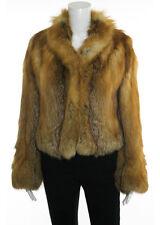 JACQUES FERBER Red Fox Fur Long Sleeve Hook And Eye Front Blazer Jacket Sz L