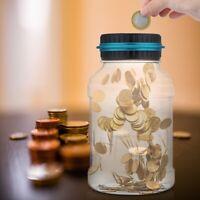 Electronic Digital Coin Counter Automatic Money Counting Jar Saving Piggy BaJ6J3