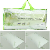 ANTI BACTERIAL BAMBOO MEMORY FOAM PILLOW ORTHOPAEDIC FIRM BACK SUPPORT HEAD NECK