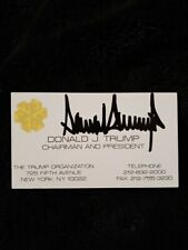 Donald Trump Pre-President / Presidential Signed / Autographed Business Card...