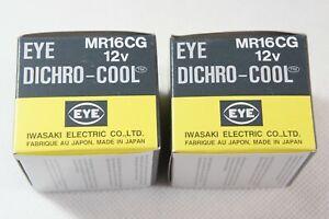 2 PACK GENUINE IWASAKI EYE DICHRO-COOL MR16CG 12V 20W JR1253 HALOGEN BULBS