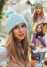 Stylecraft 9016 Knitting Pattern Hat, Headband, Welly Toppers & Fingerless Mitts