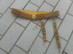 ceinture metallise et suspension de la dague OFFICIER Marine Naval SOVIETIQUE N5