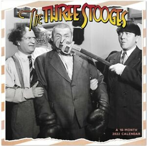 The Original Three Stooges 16 Month 2022 Photo Wall Calendar NEW SEALED