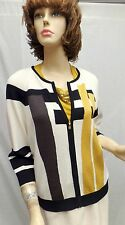 St John Knit White Black Brown Jacket Top / Shell Suit Set SIZE P 2 4