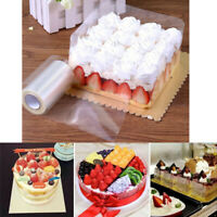 1 Roll Clear Mousse Cake Mousse Collar Edge Chocolate Candy Baking DIY Packaging