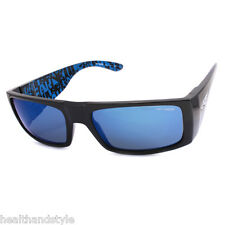 Arnette AN4191-04 2200/55 Lubbock Black Blue-Black/Blue Mirror Men's Sunglasses