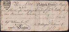 1809 ed è avvenuta Newark Banca £ 200 vista nota * F *