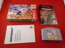 Star Wars: Rogue Squadron (Nintendo 64, 1998) COMPLETE Box manual game WORKS