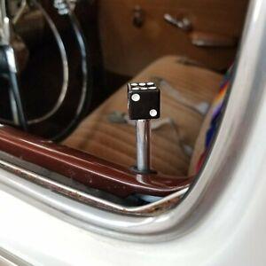 Black Dice 4 Piece Door Lock Plunger Kit 350 camaro c-10 deluxe Short Box Chevy