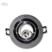 5x GU10 proyector empotrado, Foco empotrable Rendondo aluminio cepillado 230v