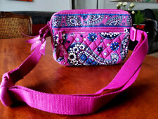 Vera Bradley Boysenberry (Pink & Blue) Paisley Travel Belt Handbag Fanny Pack
