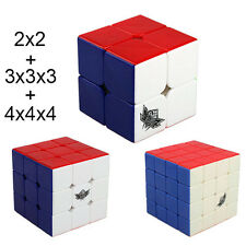 2X2 3X3 4x4x4 Set of Cyclone Boys Smooth Magic Speed Cube Puzzle Twist Toys Gift