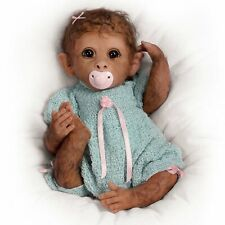 Ashton Drake Clementine Needs A Cuddle monkey baby doll by Linda Murray