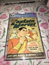 CAPTAIN MARVEL ADVENTURES #31 CGC 8.5 HIGH GRADE HARD TO FIND! GOLDEN AGE BEAUTY