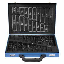 vidaXL 170 Twist Drill Bits Set HSS R Titanium Metric 1-10mm Hole Shank Kit