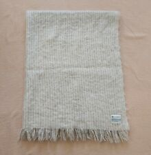 St Albans pure mohair throw or blanket Beige VGC Made in Australia A$250