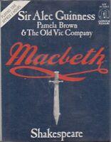 Shakespeare Macbeth 2 Cassette Audio Alec Guinness Old VIc Company FASTPOST