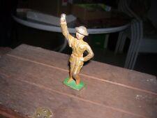 GREY IRON LEGION DRUM MAJOR G80 1930'S ANTIQUE WWI TOY SOLDIER DIMESTORE BAND