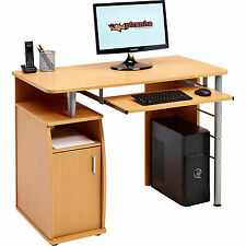 Computer Desk with Cupboard and Shelves for Home Office - Piranha Elver PC 1b