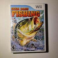 Sega Bass Fishing Nintendo Wii 2008 E-Everyone Complete Tested/Working