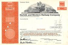 Norfolk and Western Railway Compagny Certificate 1976 (256072)