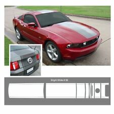 Ford Mustang 2010-2012 w/ Lip Spoiler Center Stripe Graphic Kit - Bright White