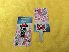 KW1 MINNIE MOUSE BLANK HOUSE KEY LARGE  HEAD for KWIKSET lock Made in The USA