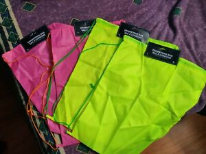 "Drawstring 14"" X 17"" Thin Bag: Lot of 4 Bags: with Throw Ins"