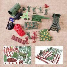 238pcs 1:72 4cm Plastic Military Toy Soldiers Army Men Figures Playset 6 Poses