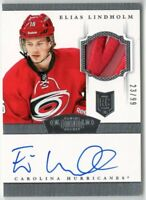 13-14 Panini Dominion Elias Lindholm Rookie Auto Signature Patch Jersey #23/99